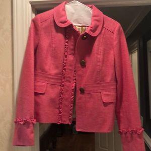 J crew pink wool jacket size 12 blazer